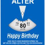 Geburtstagskarte als Parkscheibe zum 80. Geburtstag