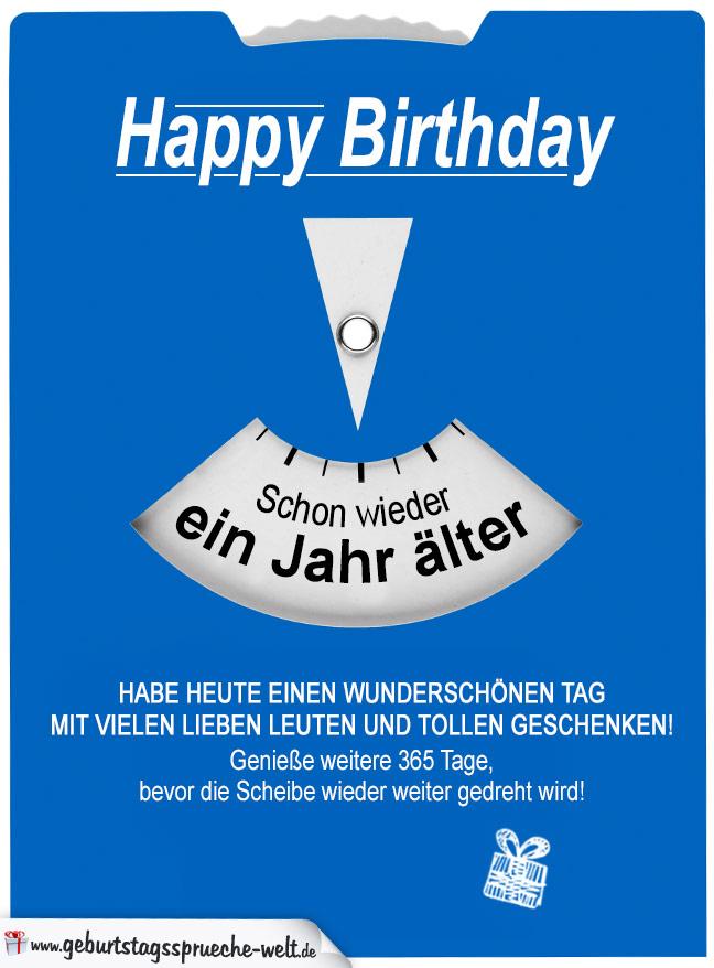 Geburtstagskarte Als Parkscheibe Fur Jedes Alter