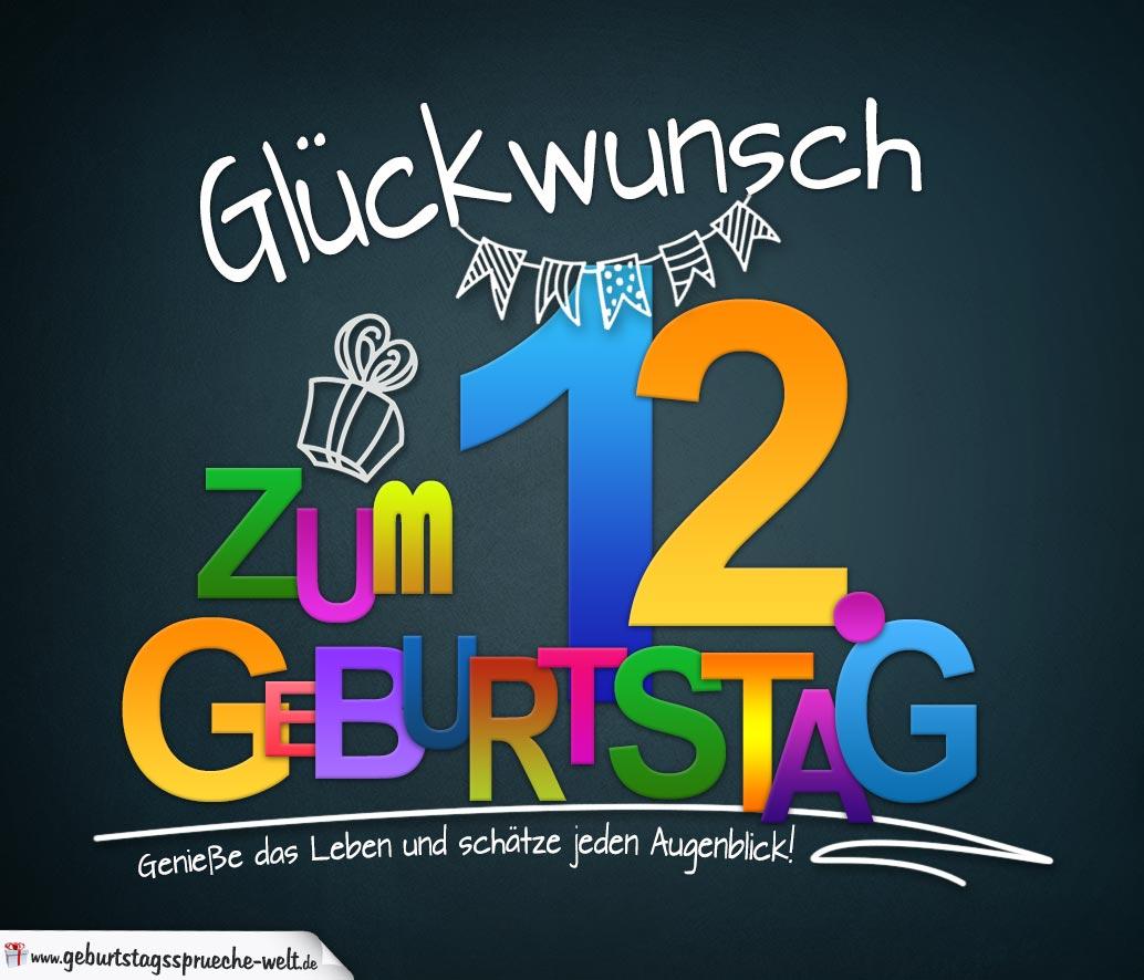 Wünsche Zum 12 Geburtstag
