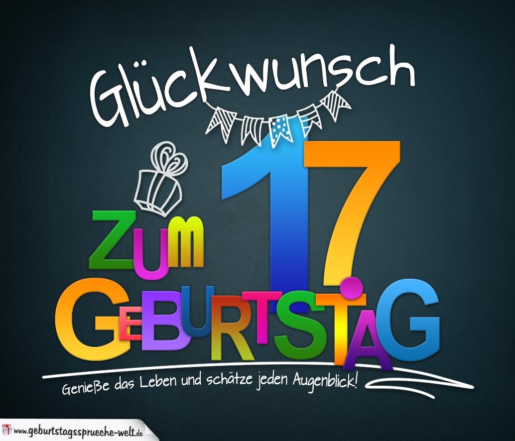 Sprüche Zum 17 Geburtstag Karte Mit Schönem Spruch Zum