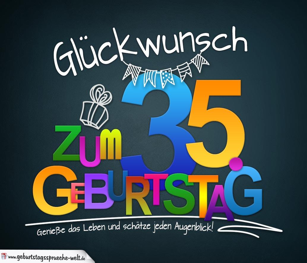 Spruch Zum 35. Geburtstag