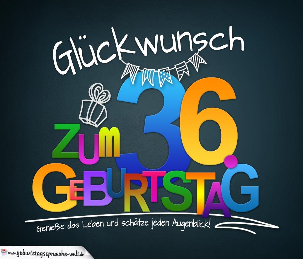 Sprüche Zum 36 Geburtstag Karte Mit Schönem Spruch Zum Nachdenken