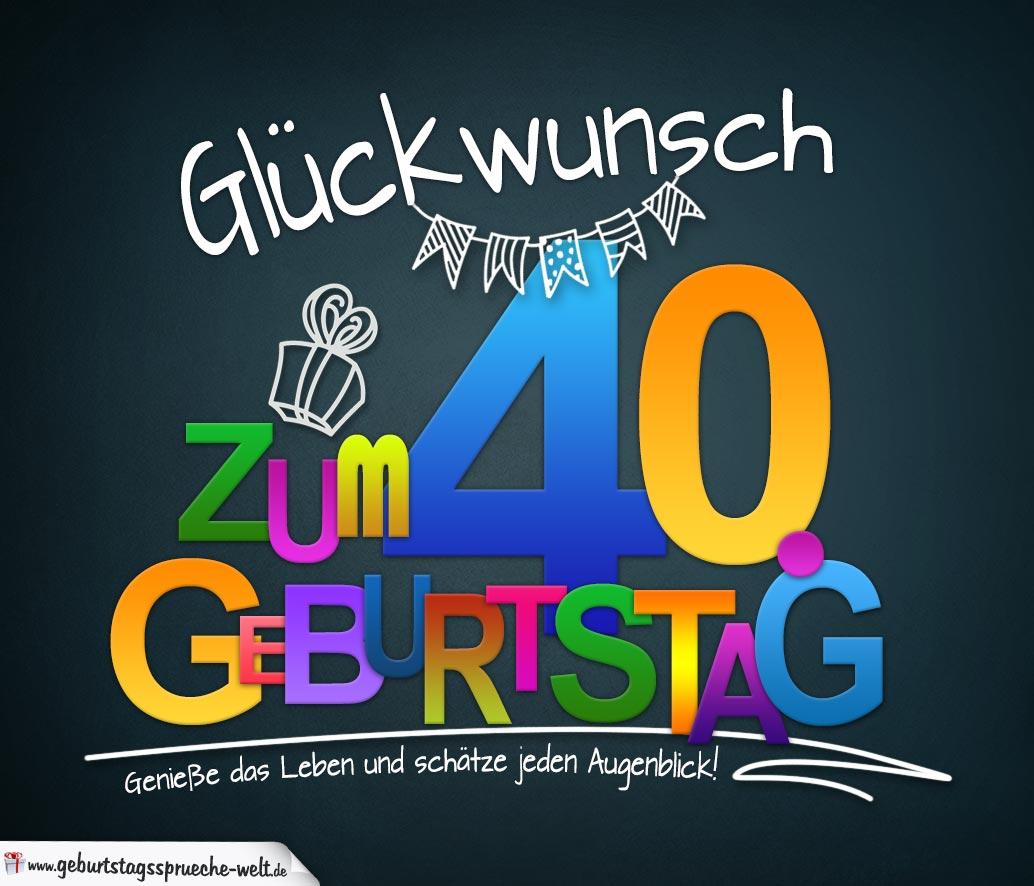 Geburtstags Sprüche Zum 40