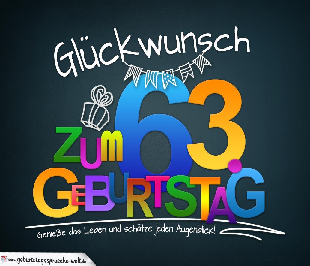 Sprüche Zum 63 Geburtstag Karte Mit Schönem Spruch Zum