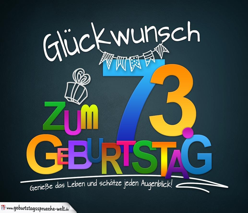 Sprüche Zum 73 Geburtstag Karte Mit Schönem Spruch Zum
