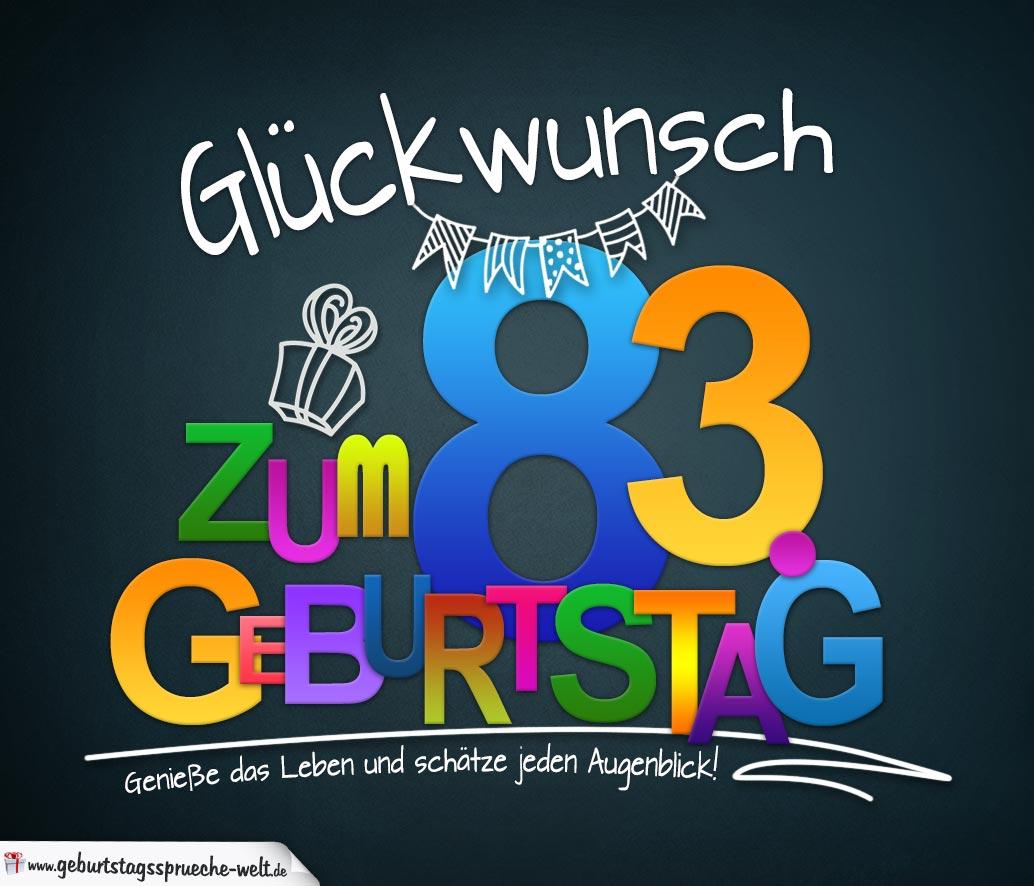 Sprüche Zum 83 Geburtstag Karte Mit Schönem Spruch Zum Nachdenken