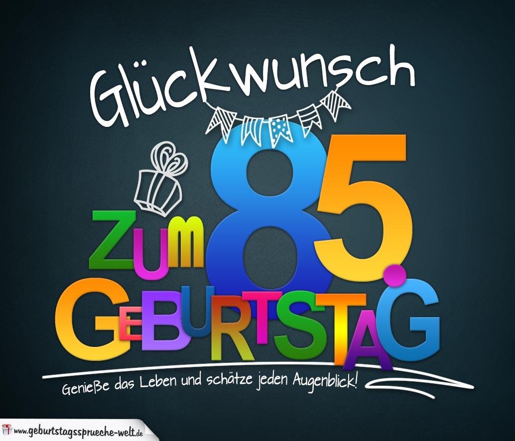 Sprüche Zum 85 Geburtstag Karte Mit Schönem Spruch Zum Nachdenken