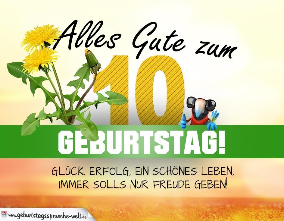 10 Geburtstag Geburtstagskarte Alles Gute Mit Schönem Spruch