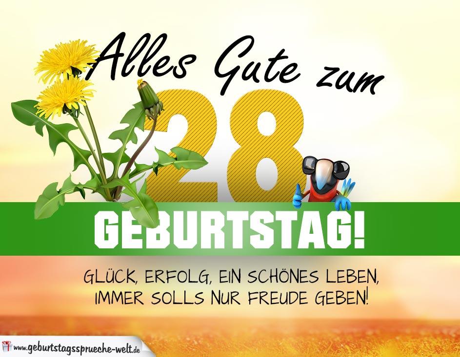 Coolphotos De Grusskarten Karten Zum 28 Geburtstag