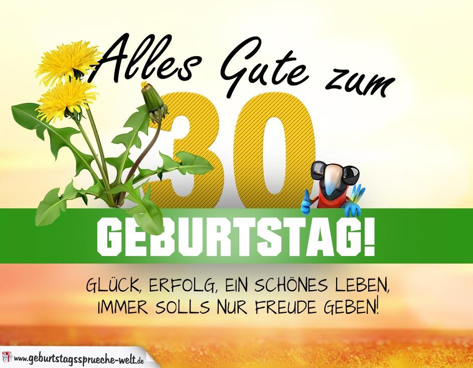 30 Geburtstag Geburtstagskarte Alles Gute Mit Schonem Spruch