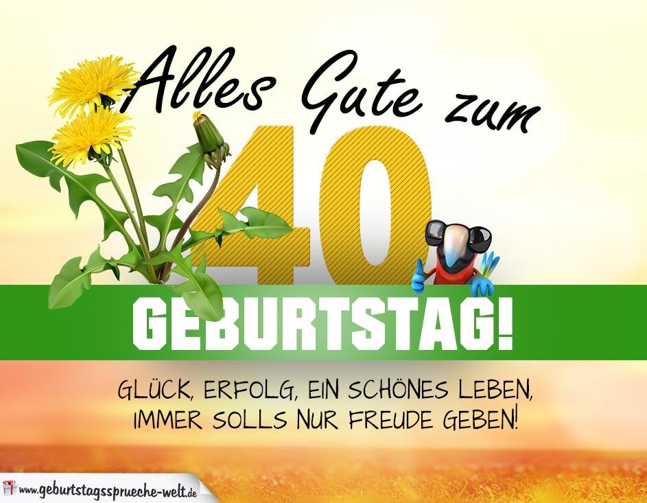 Geburtstagskarten 40 Geburtstag: Geburtstagskarte ALLES GUTE Mit Schönem