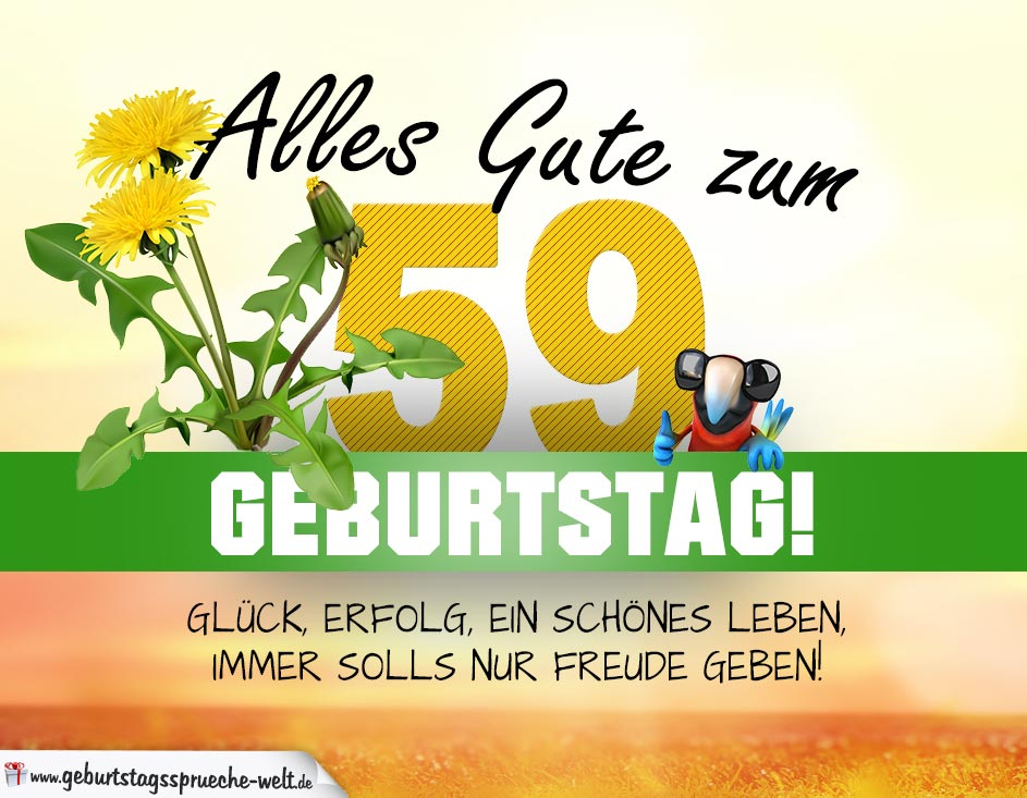 59 Geburtstag Geburtstagskarte Alles Gute Mit Schönem