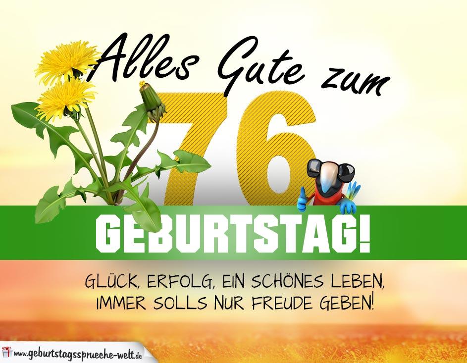 76 Geburtstag Geburtstagskarte Alles Gute Mit Schönem Spruch