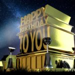Kostenlose Geburtstagskarte im Stile von Hollywood - Happy Birthday to you