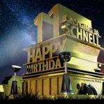 Kostenlose Geburtstagskarte zum 11. Geburtstag im Stile von Hollywood - Happy Birthday