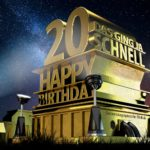 Kostenlose Geburtstagskarte zum 20. Geburtstag im Stile von Hollywood - Happy Birthday