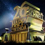 Kostenlose Geburtstagskarte zum 26. Geburtstag im Stile von Hollywood - Happy Birthday