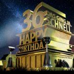 Kostenlose Geburtstagskarte zum 36. Geburtstag im Stile von Hollywood - Happy Birthday