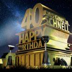 Kostenlose Geburtstagskarte zum 40. Geburtstag im Stile von Hollywood - Happy Birthday