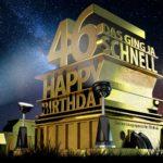 Kostenlose Geburtstagskarte zum 46. Geburtstag im Stile von Hollywood - Happy Birthday