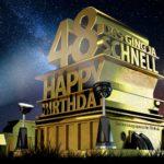 Kostenlose Geburtstagskarte zum 48. Geburtstag im Stile von Hollywood - Happy Birthday
