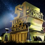 Kostenlose Geburtstagskarte zum 51. Geburtstag im Stile von Hollywood - Happy Birthday