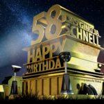 Kostenlose Geburtstagskarte zum 58. Geburtstag im Stile von Hollywood - Happy Birthday