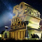 Kostenlose Geburtstagskarte zum 59. Geburtstag im Stile von Hollywood - Happy Birthday