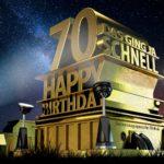 Kostenlose Geburtstagskarte zum 70. Geburtstag im Stile von Hollywood - Happy Birthday