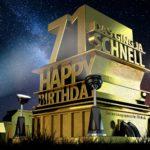 Kostenlose Geburtstagskarte zum 71. Geburtstag im Stile von Hollywood - Happy Birthday