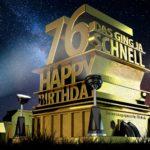 Kostenlose Geburtstagskarte zum 76. Geburtstag im Stile von Hollywood - Happy Birthday