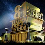Kostenlose Geburtstagskarte zum 81. Geburtstag im Stile von Hollywood - Happy Birthday