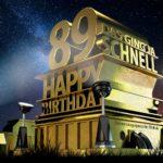Kostenlose Geburtstagskarte zum 89. Geburtstag im Stile von Hollywood - Happy Birthday