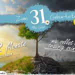 31. Geburtstag - Geburtstagskarte 12 Monate Sonnenschein