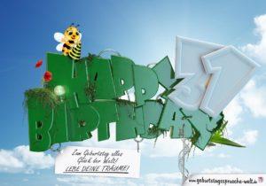 31. Geburtstag - Happy Birthday 3D Text