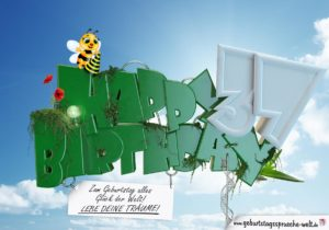 37. Geburtstag - Happy Birthday 3D Text