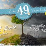 49. Geburtstag - Geburtstagskarte 12 Monate Sonnenschein