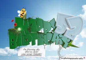 52. Geburtstag - Happy Birthday 3D Text