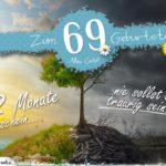 69. Geburtstag - Geburtstagskarte 12 Monate Sonnenschein