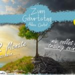 Geburtstagskarte 12 Monate Sonnenschein