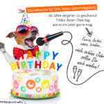 Geburtstagssprüche mit singenden Hund