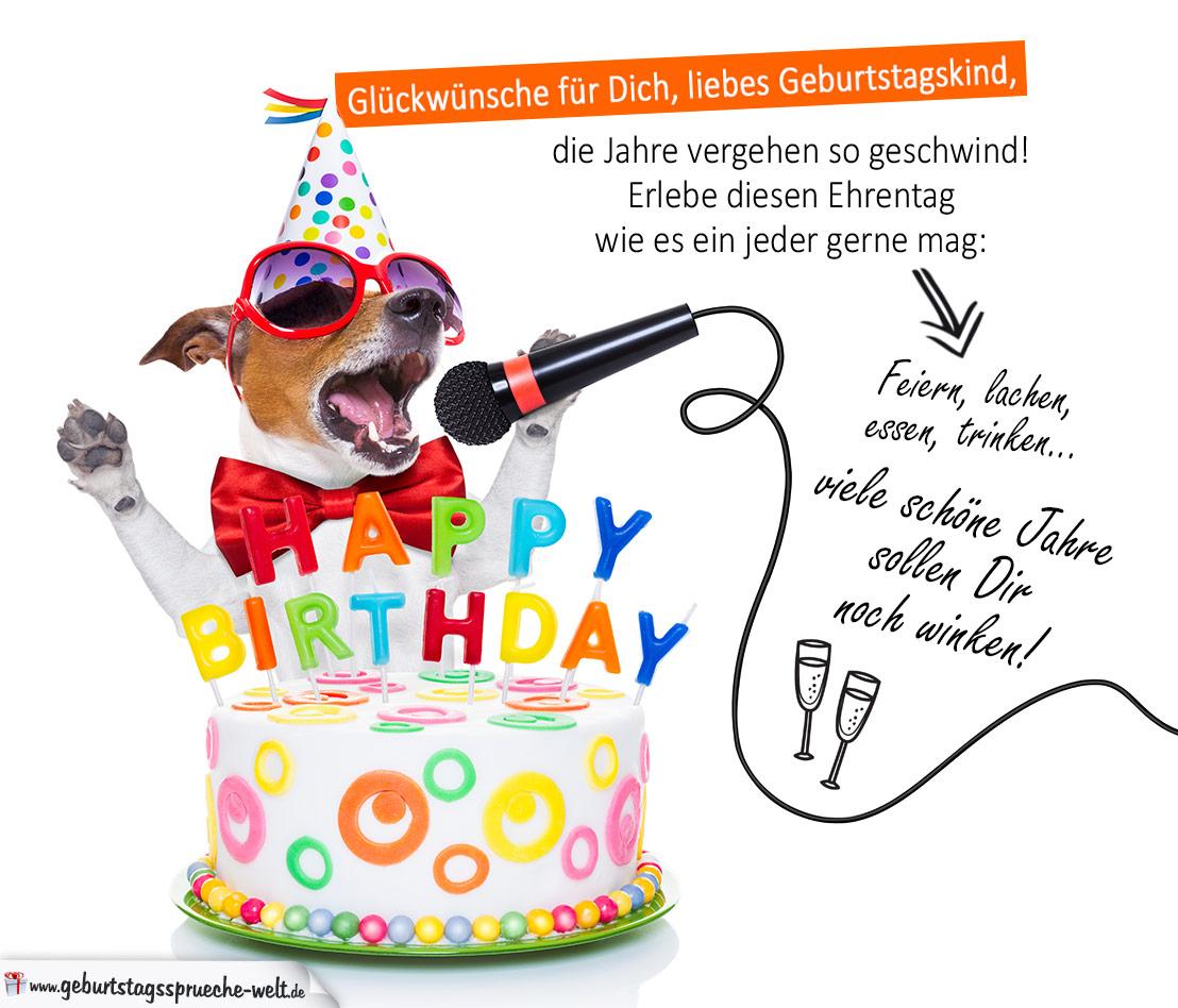 Etwas Neues genug Bunte Geburtstagskarte mit Gedicht zum Geburtstag und Hund #NP_22