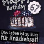 Geburtstagstorte 67. Geburtstag Happy Birthday
