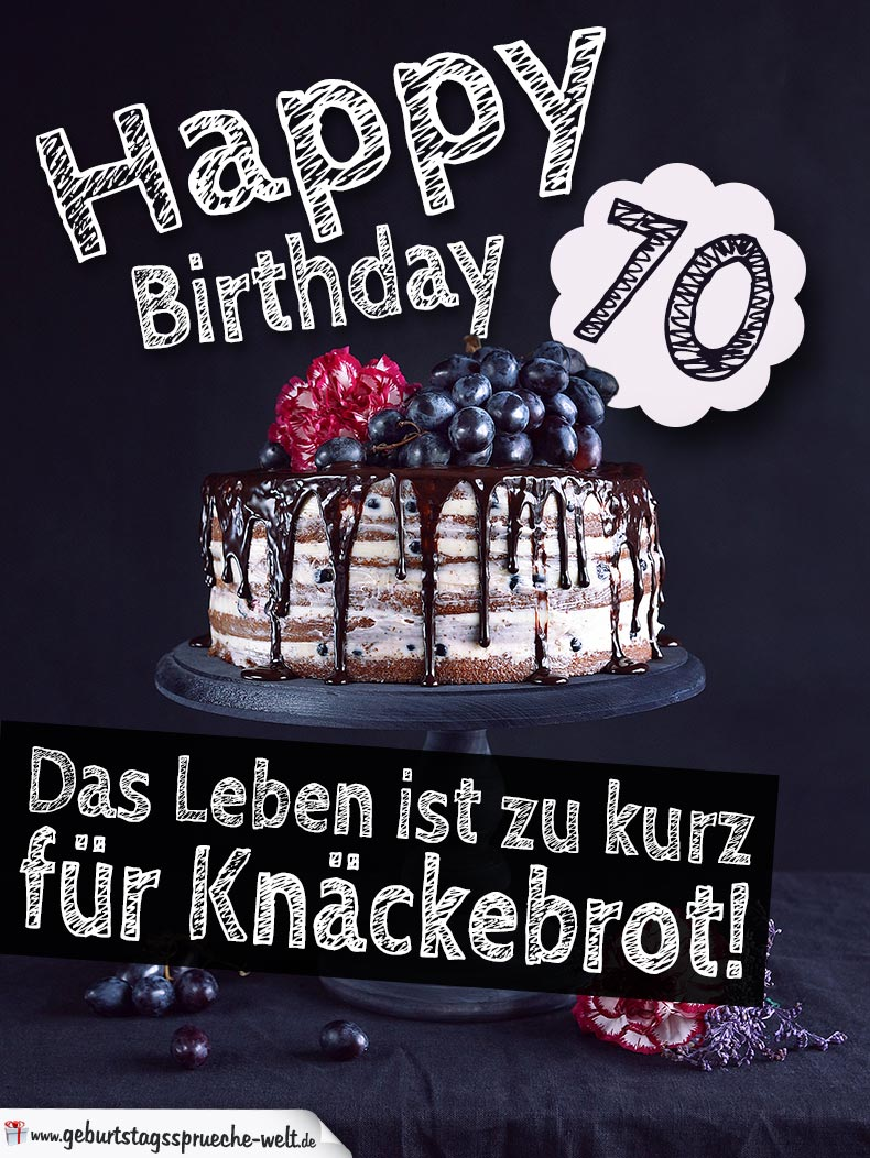 geburtstagstorte 70 geburtstag happy birthday. Black Bedroom Furniture Sets. Home Design Ideas