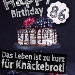 Geburtstagstorte 86. Geburtstag Happy Birthday