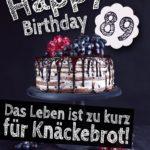 Geburtstagstorte 89. Geburtstag Happy Birthday
