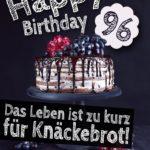 Geburtstagstorte 96. Geburtstag Happy Birthday