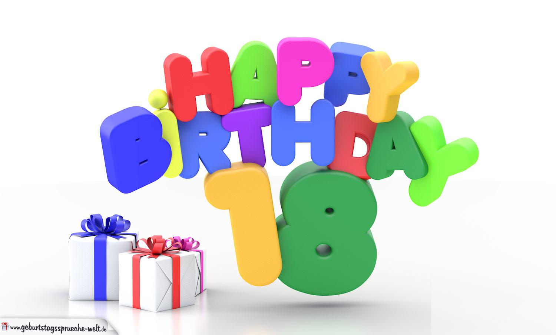 happy birthday 18 geburtstag - geburtstagssprüche-welt