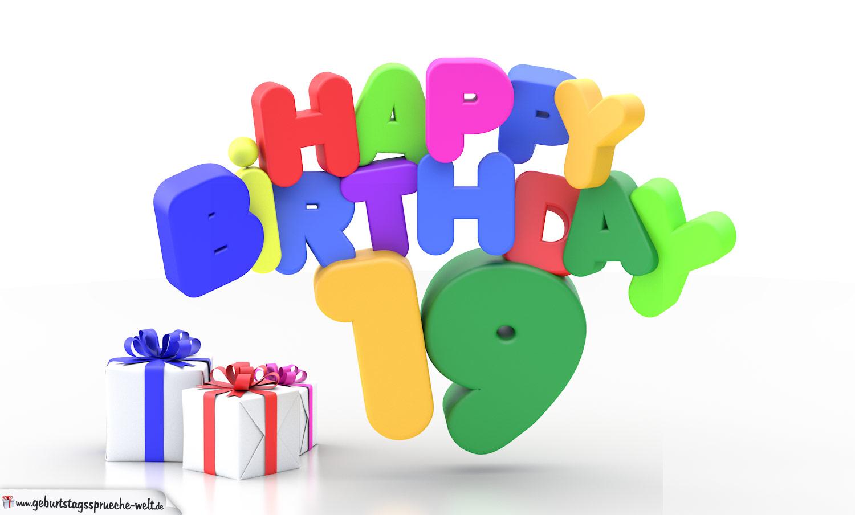 Geburtstagssprüche 19. Geburtstag