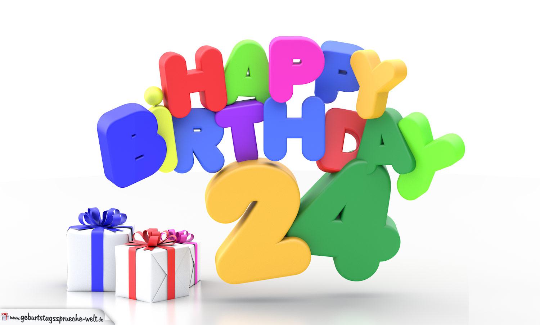 Geburtstagsspruch zum 24 mann